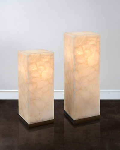 Lighted Calcite Pedestals
