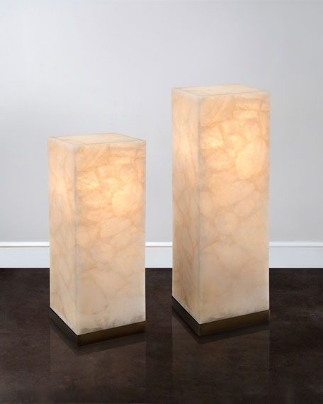 "30""T Lighted Calcite Pedestal"