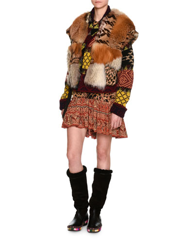 Mixed-Fur Vest and Matching Items