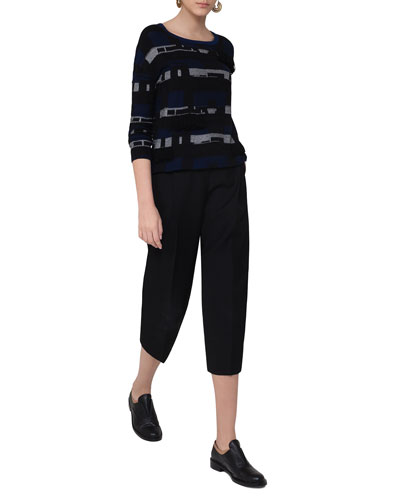 Flori Slouchy Cropped Pants, Black and Matching Items