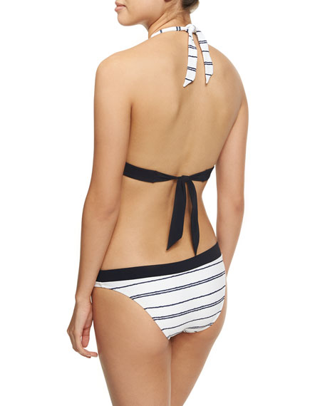 Nassau Halter Padded Swim Top, White