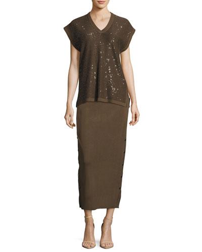 Knit Midi Skirt, Hazel, Plus Size and Matching Items, Plus Size