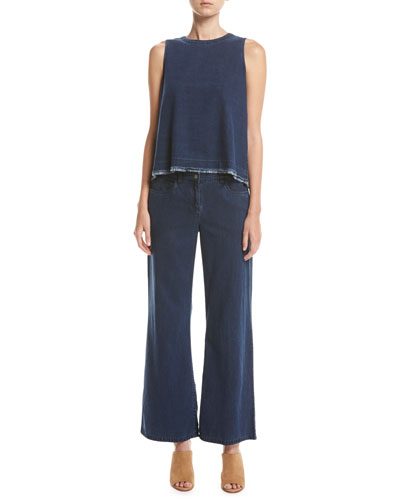 Sleeveless Tencel® Denim Shell  and Matching Items