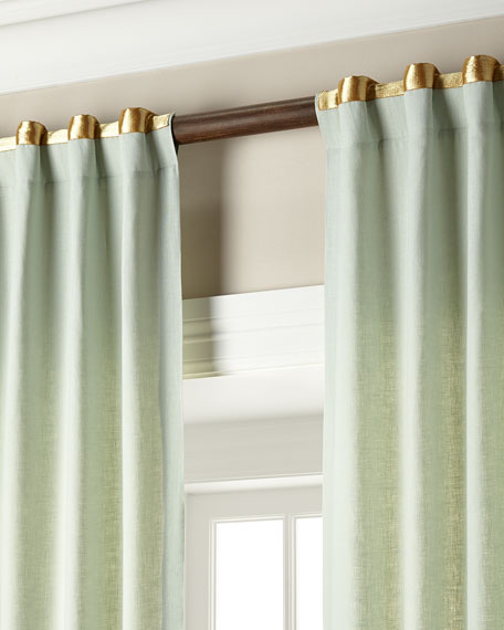 """Each 52""""W x 108""""L Hudson Metallic-Band Curtain"""
