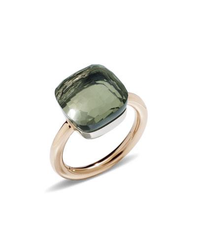 Nudo Rose Gold & Prasiolite Grande Ring  Size 53
