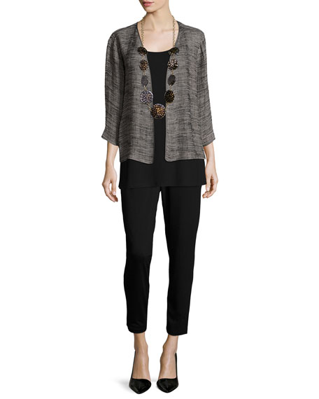 Eileen Fisher Petite Slim Slouchy Ankle Pants