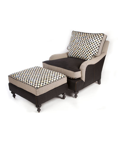 Underpinnings Chair & Ottoman