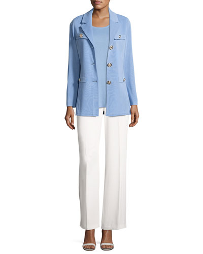 Dressed Up Button-Front Jacket and Matching Items