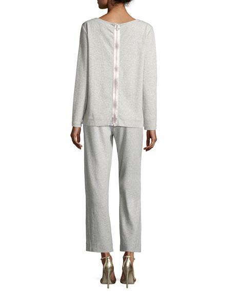 Luxe Cotton Interlock Sequin-Front Top