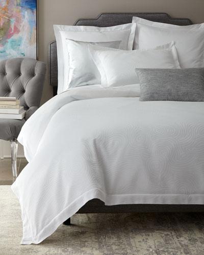 Winter White Scroll Bedding