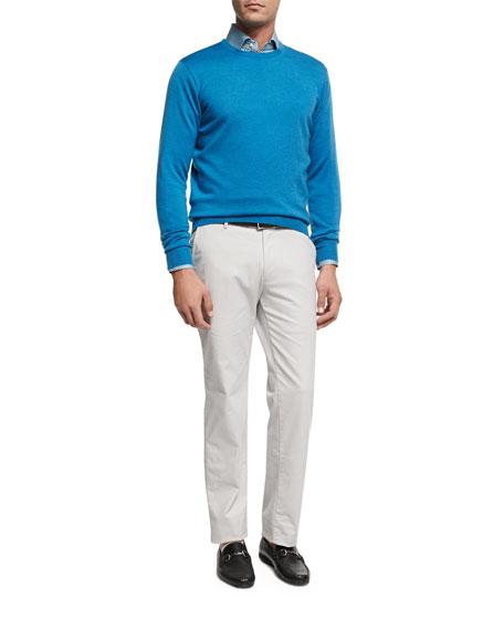 Pandora's Box Cotton Sport Shirt, Light Blue