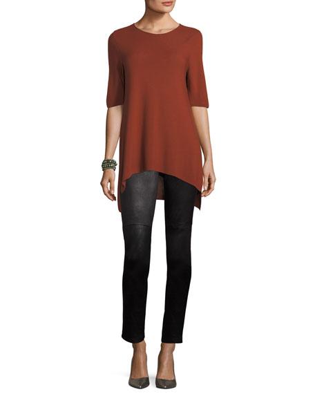Half-Sleeve Tencel Links Sweater, Petite