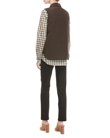 Brody Long-Sleeve Check Blouse