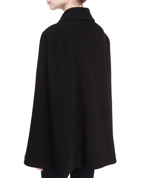 Clifton Virgin Wool-Cashmere Double-Breasted Cape