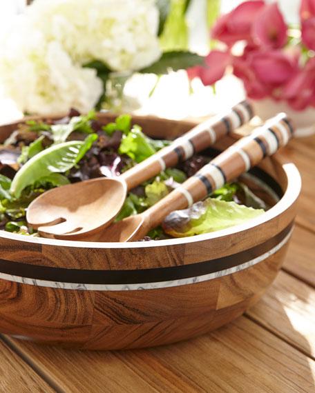 Stonewood Stripe Salad Serving Bowl