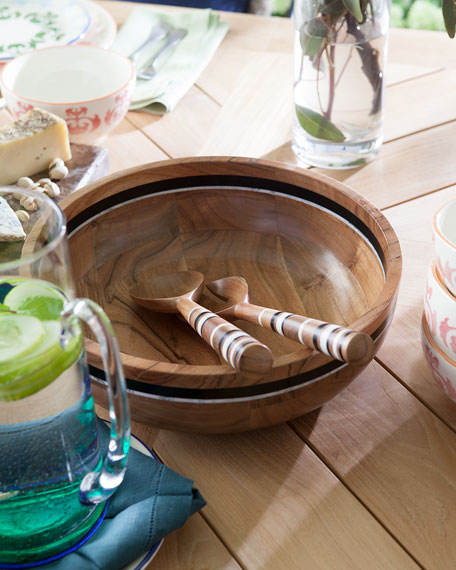 Stonewood Stripe 2-Piece Salad Serving Set