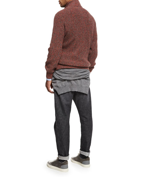 Selvedge Denim Leisure-Fit Jeans