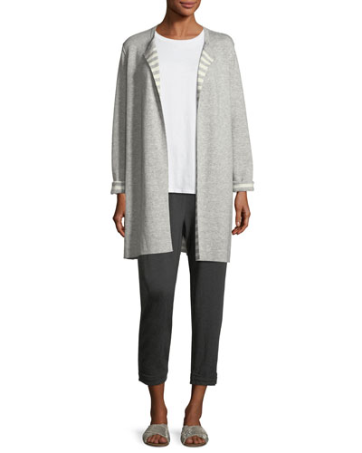 Organic Cotton Cashmere Reversible Cardigan, Petite  and Matching Items