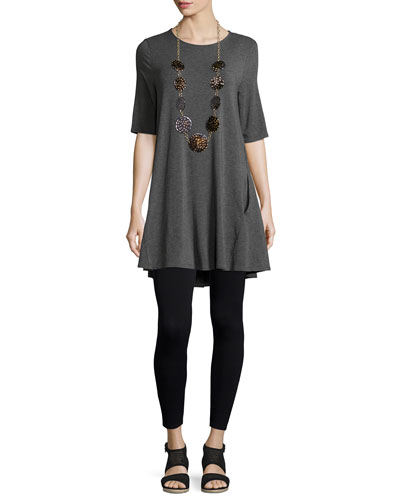 Half-Sleeve Jersey Tunic  and Matching Items