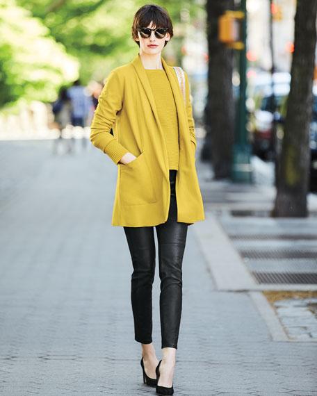 Boiled Wool Jersey Long Jacket