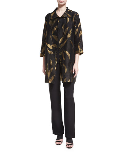 Gold Leaf Jacquard Party Jacket, Petite  and Matching Items