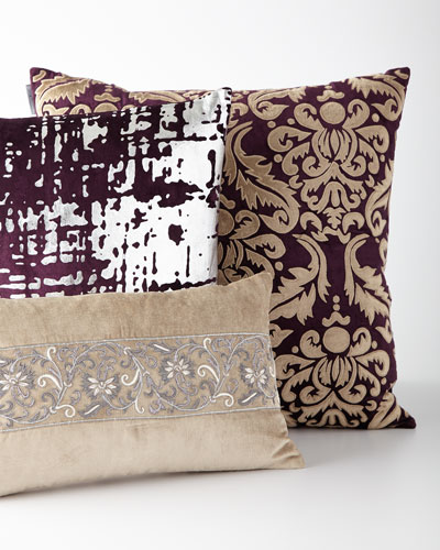Beige and Purple Pillows