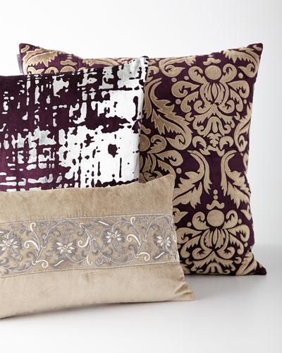 Beige & Purple Pillows