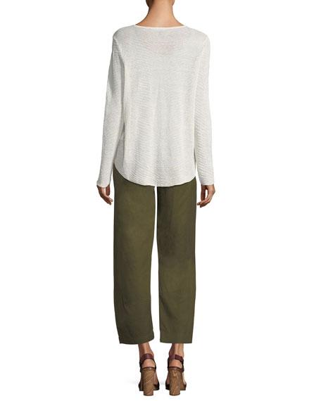Linen-Blend Lantern Ankle Pants