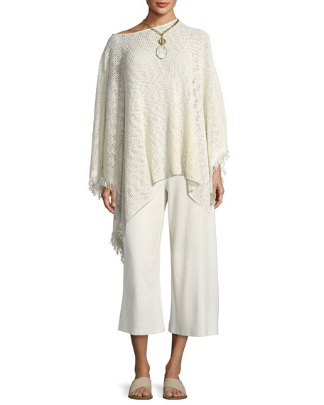 Peruvian Organic Cotton Nubble Poncho