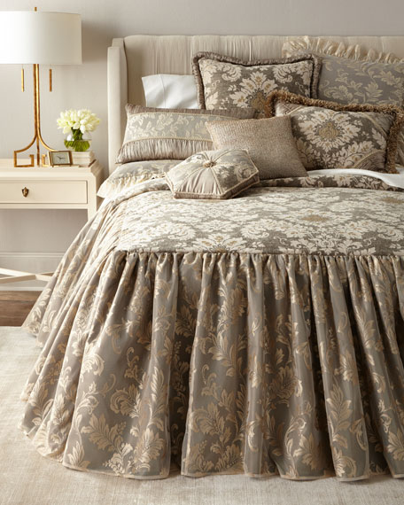 Queen Elegance Skirted Coverlet