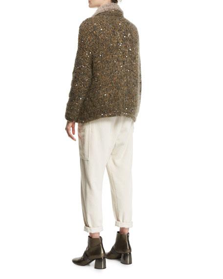 Corduroy Single-Pleat Pants