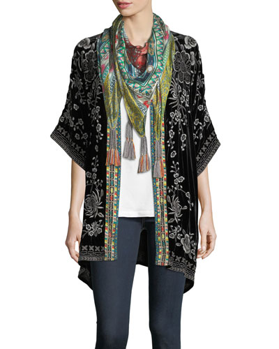 Annabelle Floral-Print Silk Scarf and Matching Items