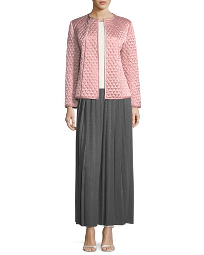 Jersey Pleated Long Skirt  and Matching Items