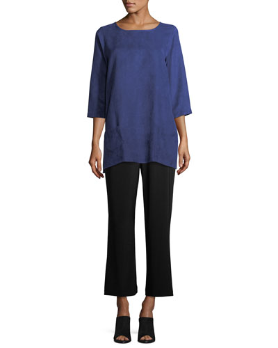 Modern Faux-Suede Two-Pocket Tunic, Petite and Matching Items