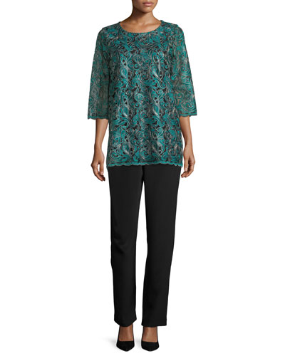 Lux Embroidered Tunic, Plus Size and Matching Items
