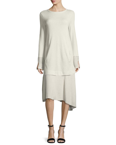 Grommet-Cuff Tunic, Petite and Matching Items