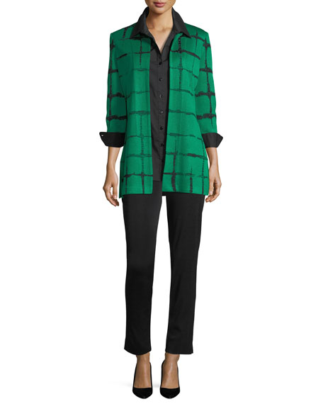 Faded Lines Long Jacket