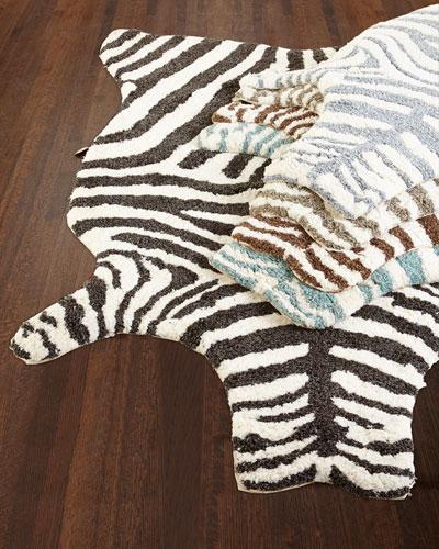 Lilly Zebra Shag Rug