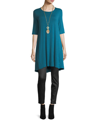 Half-Sleeve Jersey Tunic, Plus Size    and Matching Items