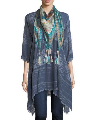 Leaf Garden Embroidered Georgette Tunic  and Matching Items
