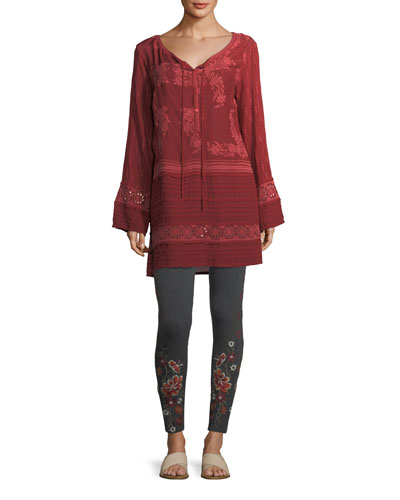 Leafly Tiered Popover Tunic  and Matching Items