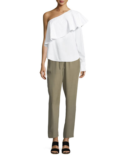 Pintuck Silk Easy Pull-On Pants and Matching Items