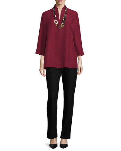 Stretch Crepe Boot-Cut Pants, Plus Size   and Matching Items