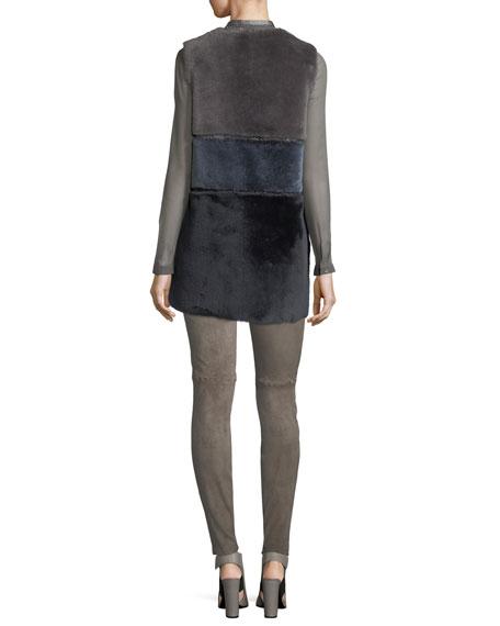 Vincenza Long-Sleeve Sheer Silk Blouse