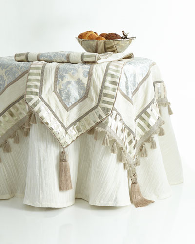 Ivory & Silver Table Linens