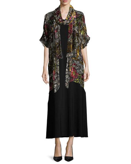 Sleeveless Knit Long Dress