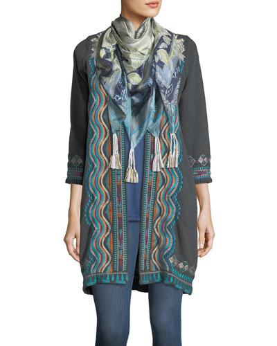 Arina Printed Silk Scarf and Matching Items