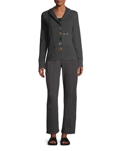 Empire Paneled Straight-Leg Pants, Plus Size  and Matching Items