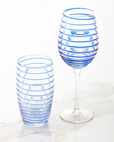 Spiral Wine Glasses, Set of 4 and Matching Items