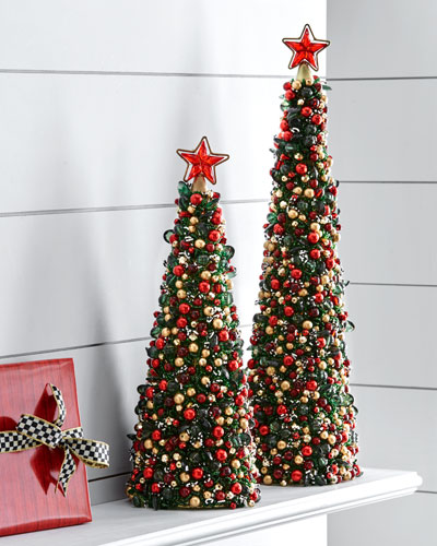 Tartan Frost Beaded Christmas Tree, 18